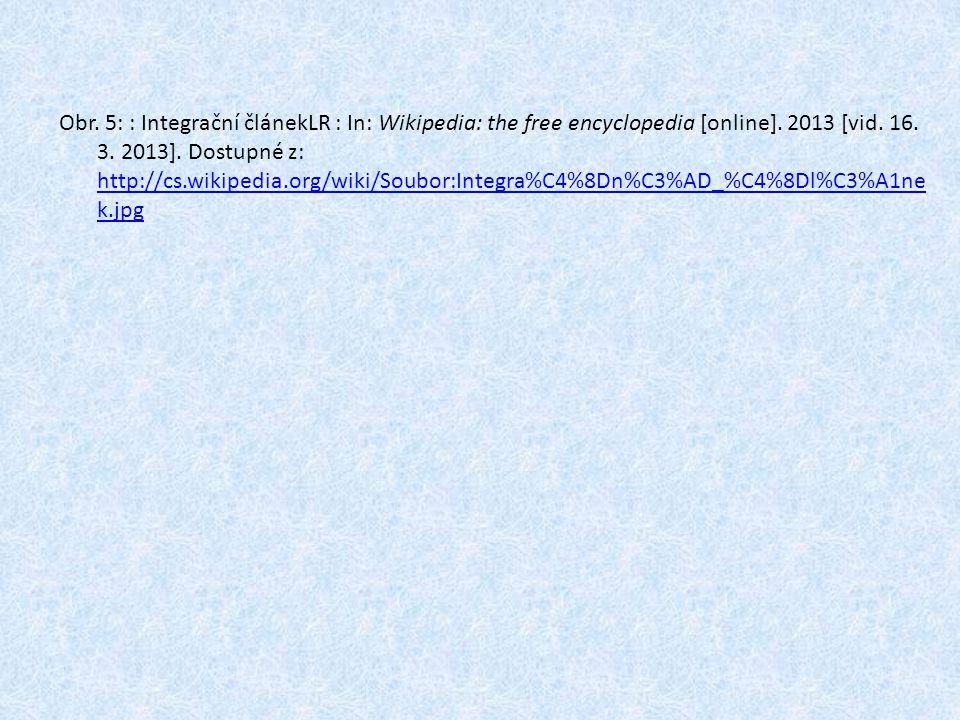 Obr. 5: : Integrační článekLR : In: Wikipedia: the free encyclopedia [online].